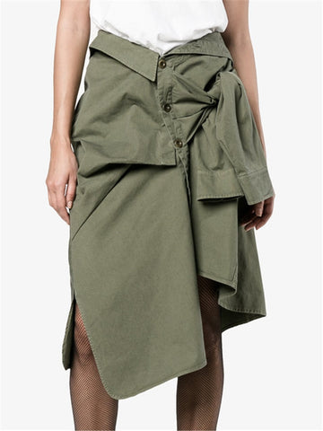 Nika Tied-Shirt Skirt