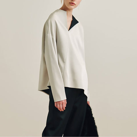 Ito Split Neck Top