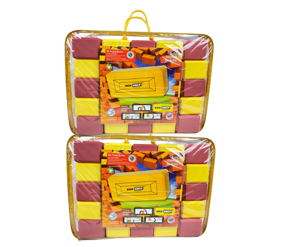 Red/Yellow Double Pack — 50 Bricks