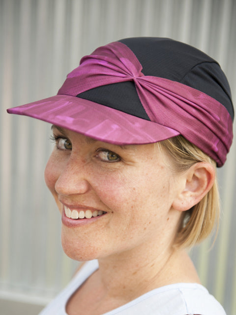 woman wearing a feminine and cute ball cap designed for active women