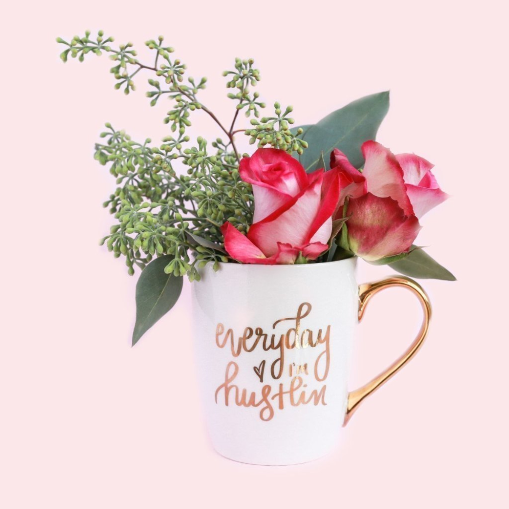 Everyday I'm Hustlin' Gold Coffee Mug - Coffee Before Wine