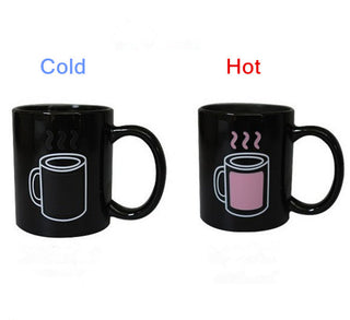 Pink Color Changing Coffee Cup - Coffee Before Wine