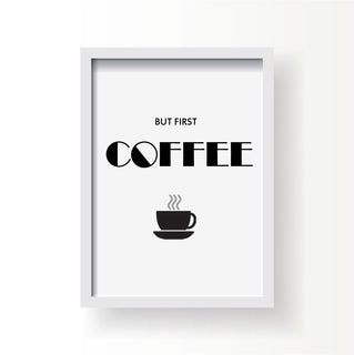 Canvas Prints But First Coffee - Coffee Before Wine