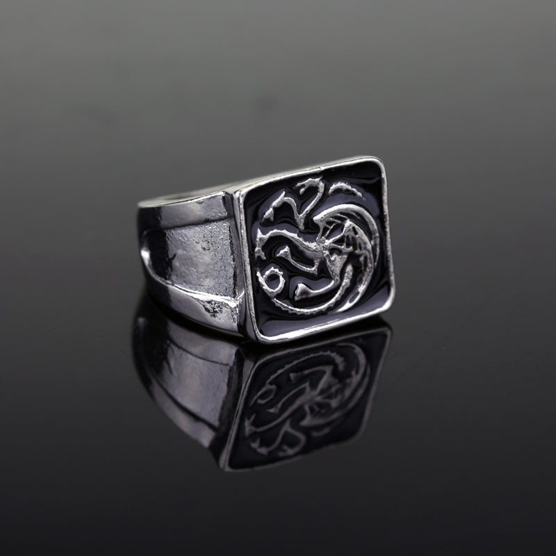 Rustic Targaryen Dragon Ring