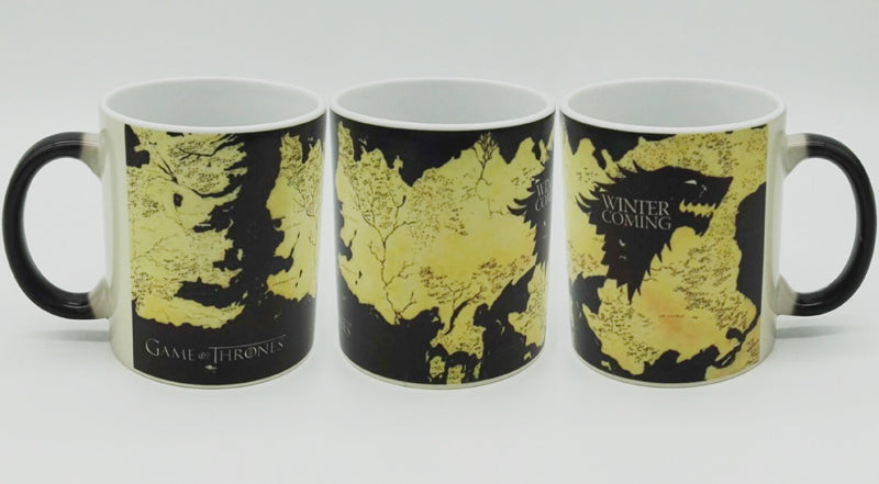 Game of Thrones Stark Winter is Coming Color  Changing Ceramic Coffee Mug