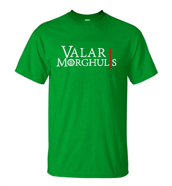 Game of Thrones Valar Morghulis  T-shirt  100% Cotton