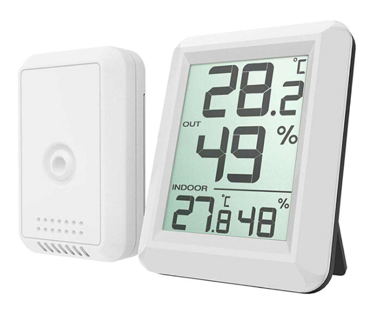 Wireless Digital Thermometer Indoor and Outdoor with Separate Sensor