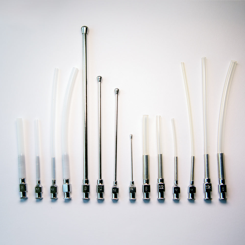 Crop Needle (straight) and Feeding Tube Set - Silicon and Teflon