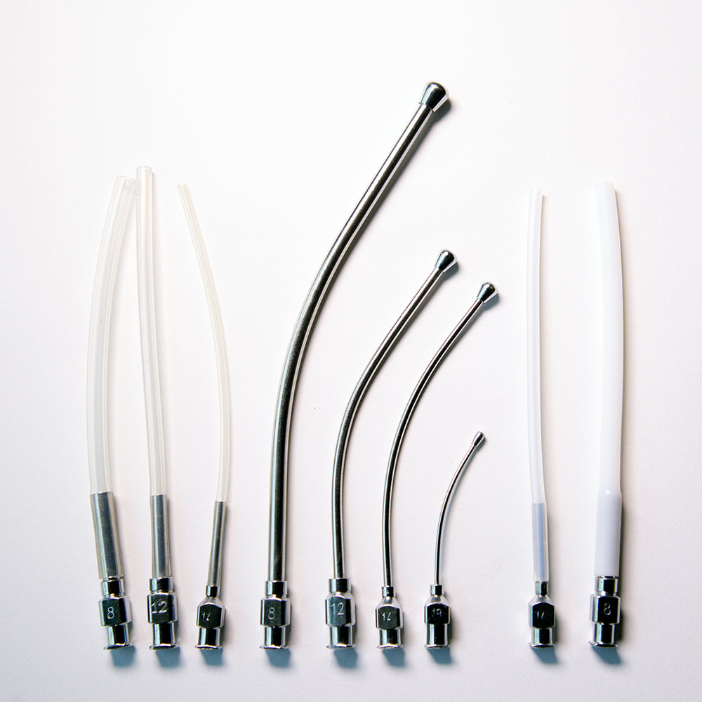 Crop Needle (curved) and Feeding Tube Set