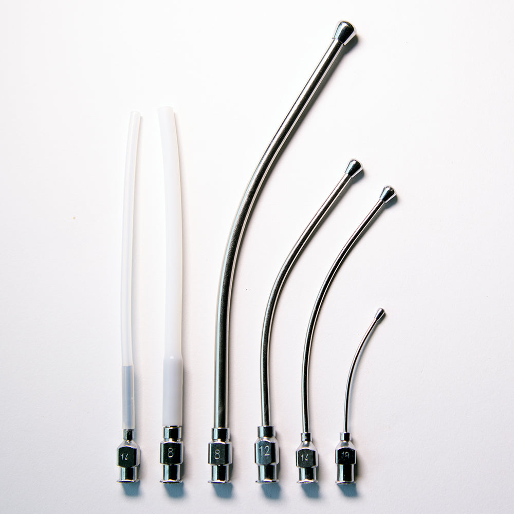 Crop Needle (curved) and Teflon Feeding Tube Set