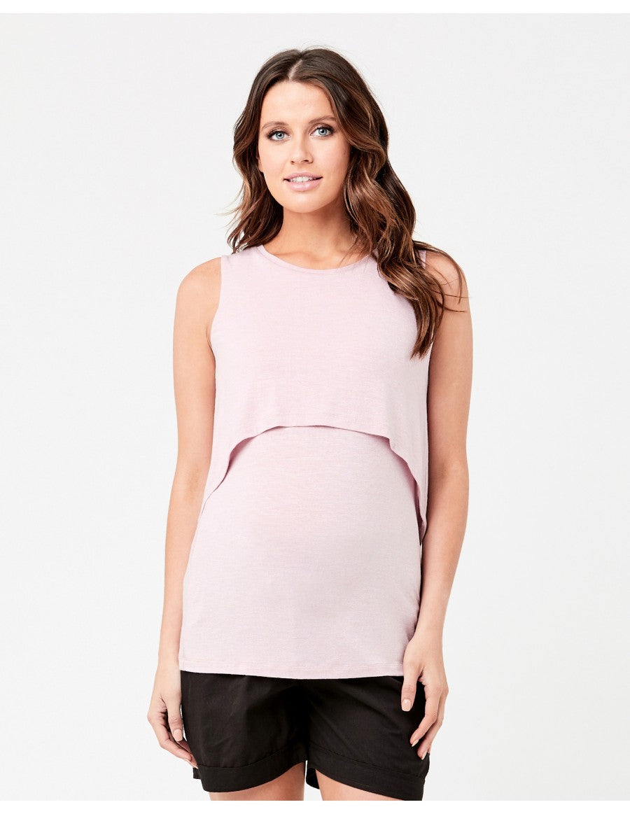 Swing Back Nursing Tank Dusty Pink