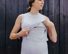 Layered Knit Nursing Dress