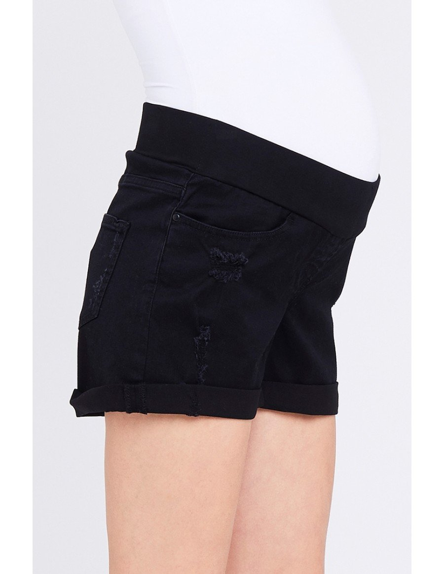 Baxter Boyfriend Shorts Black