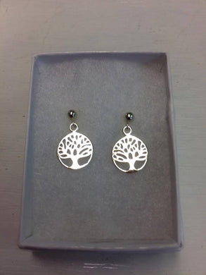 Sterling Silver Tree of Life Earrings.