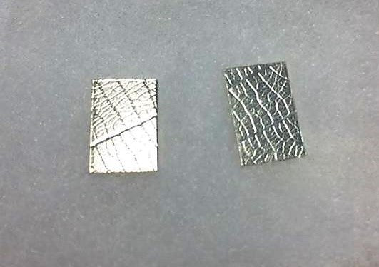 Stirling Silver Oblong Patterned Studs