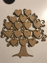 Made to order Family Tree 16 hearts Picture in frame