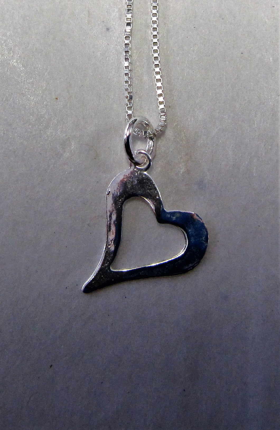 Handcrafted 925 sterling silver necklace heart pendant