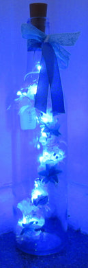 Handcrafted Light up bottle- Beautiful handmade flower light up bottle