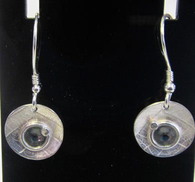 Hand crafted sterling silver with black swarovski earrings