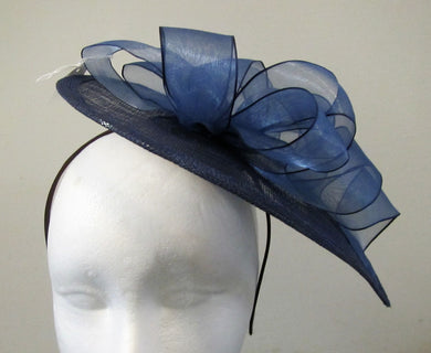 Handcrafted bows teardrop fascinator on a hair band various colours