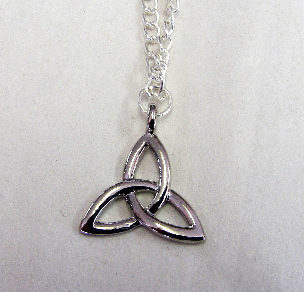 Triquetra pendant on sterling silver necklace