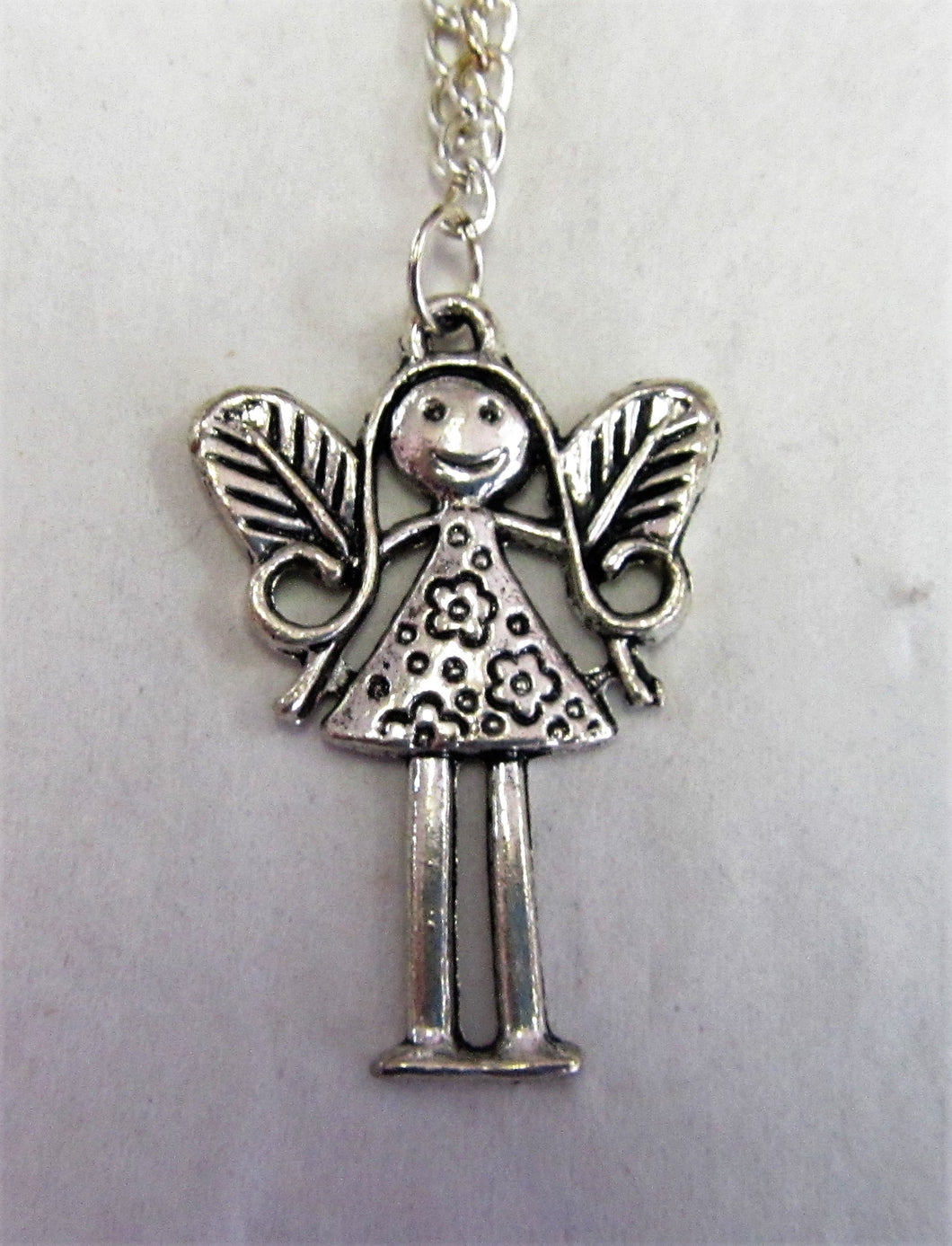 Fairy pendant on sterling silver necklace