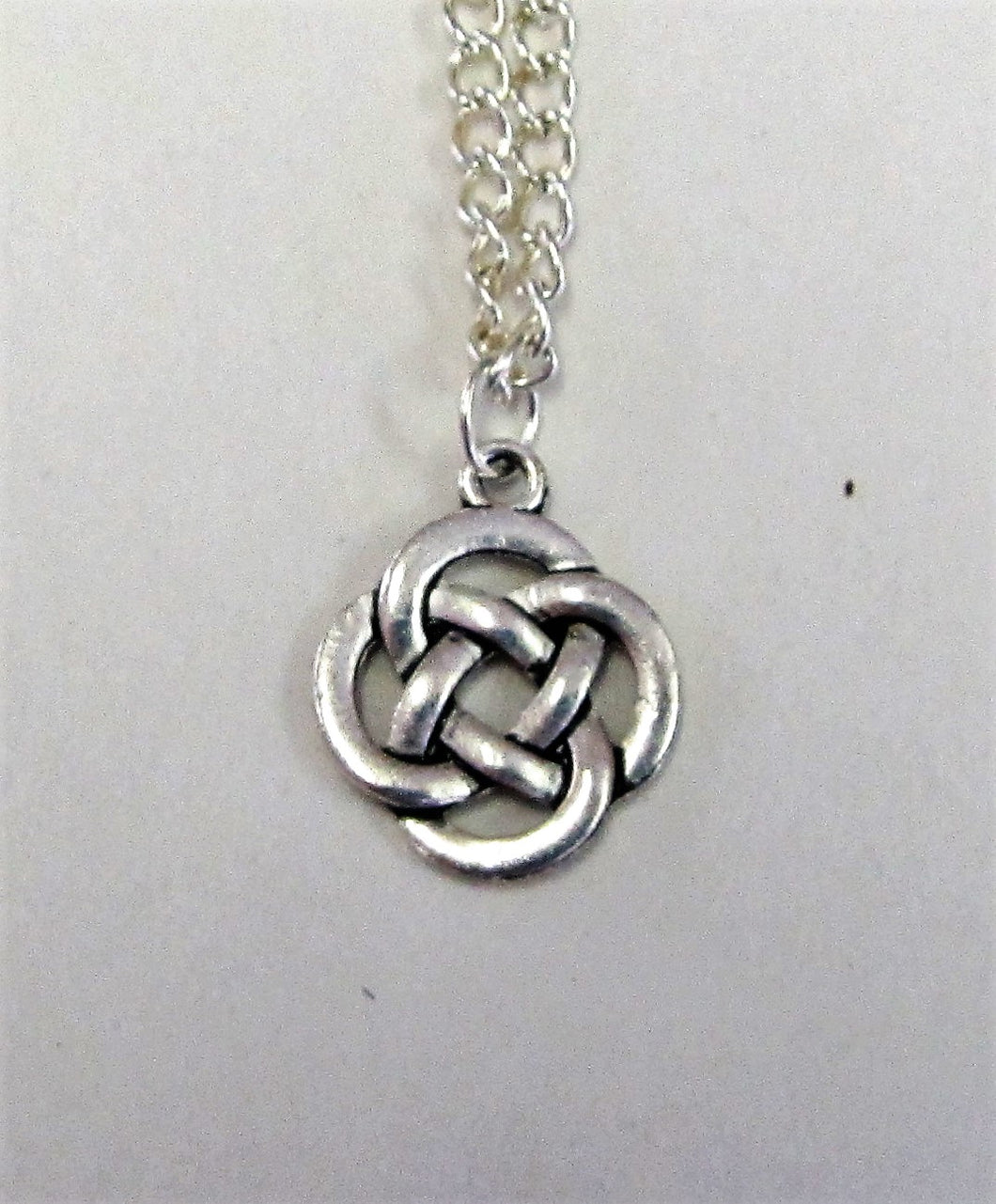 Celtic knot pendent on sterling silver necklace