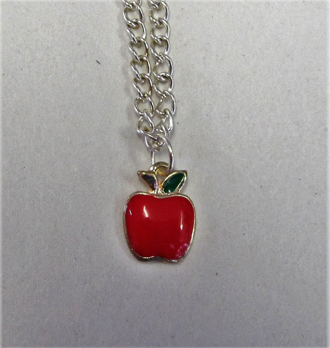 Apple pendent on sterling silver necklace