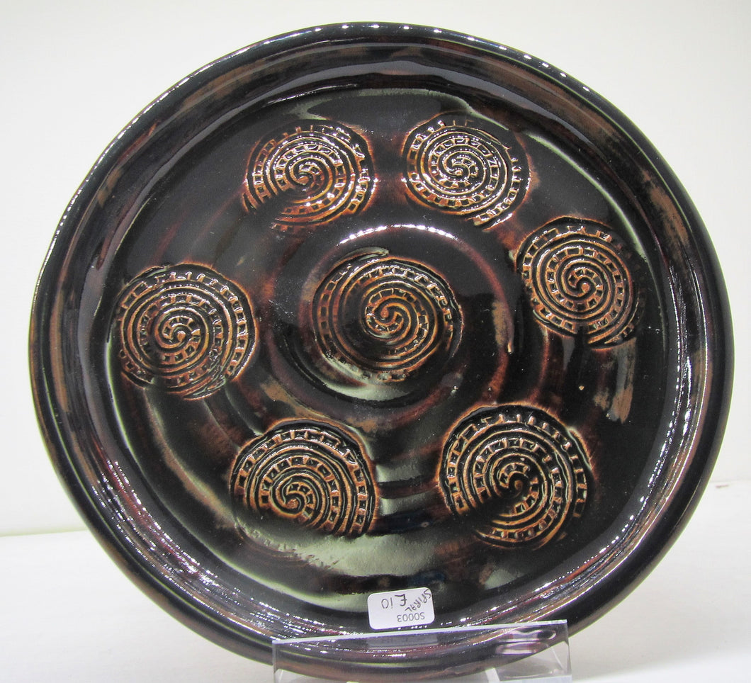 Handcrafted beautiful clay circles plate