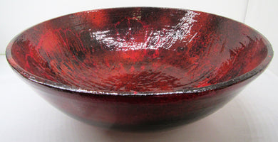 Hand painted beautiful large red and black bamboo bowl