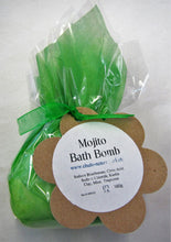 Handcrafted Mojito scented bath bomb gift wrapped
