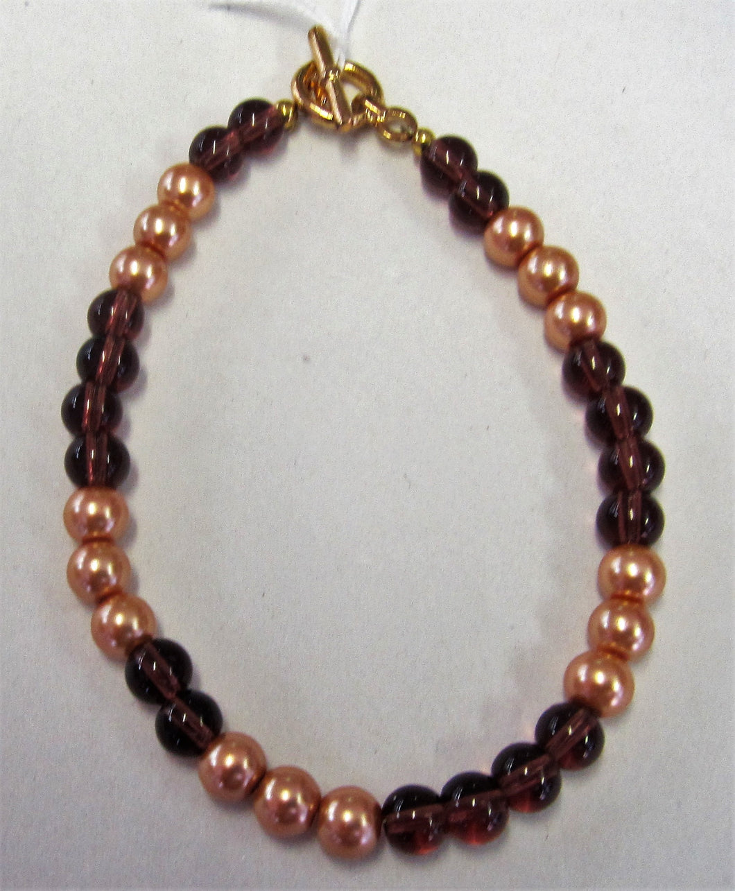 Beaded bracelet - Beautiful handcrafted with gold and brown beads