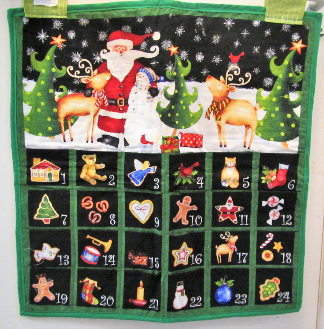 Beautiful handcrafted fabric Christmas advent calendar