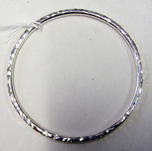 Handcrafted 925 sterling silver hallmarked hammered bangle