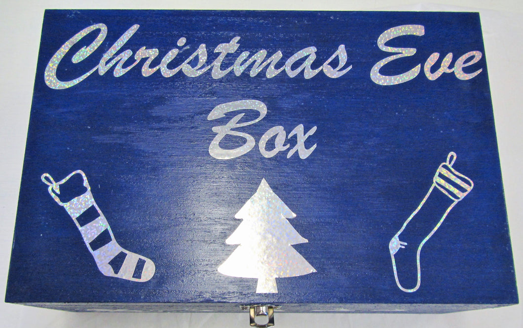 Handcrafted wooden Christmas Eve box