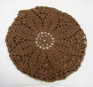 Handcrafted crochet woollen beret hats in various colours and sizes