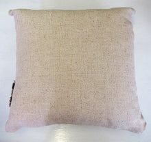 Beautiful handcrafted butterfly cushion with woven linen back