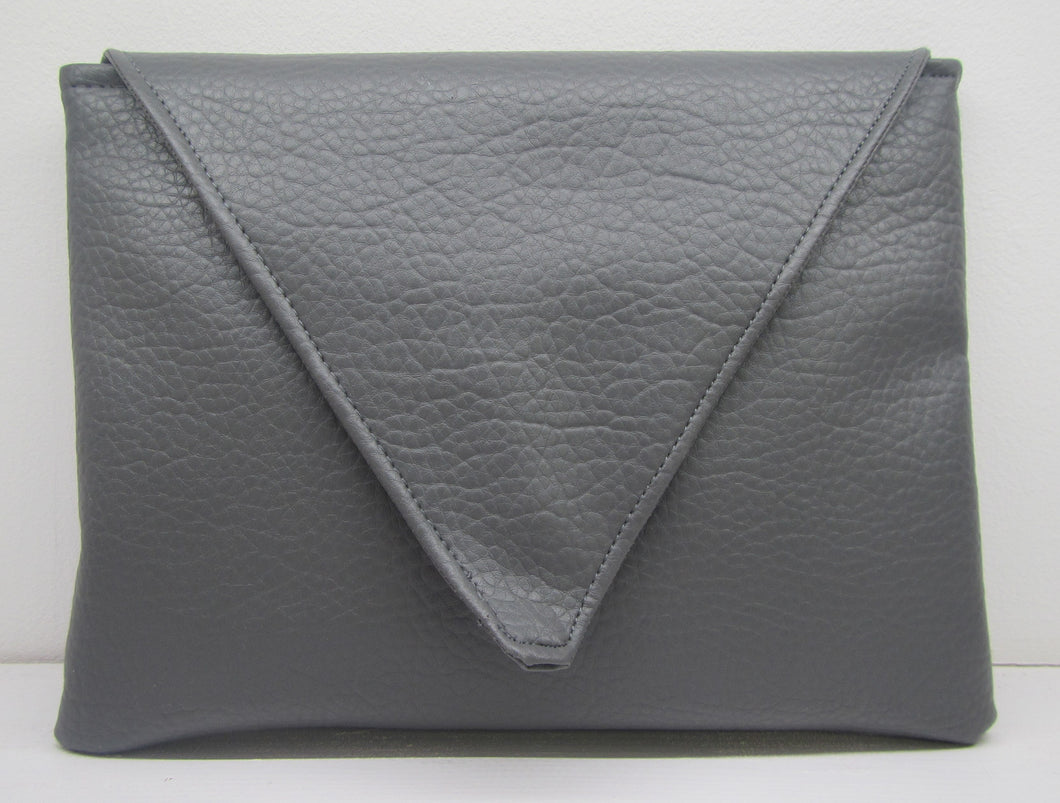 Beautiful handcrafted grey clutch bag