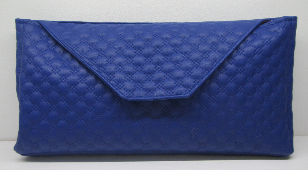 Beautiful handcrafted blue clutch bag