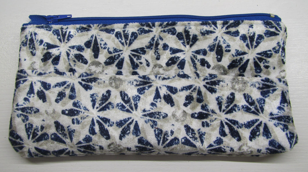 Beautiful handcrafted purse/pencil case with front pocket