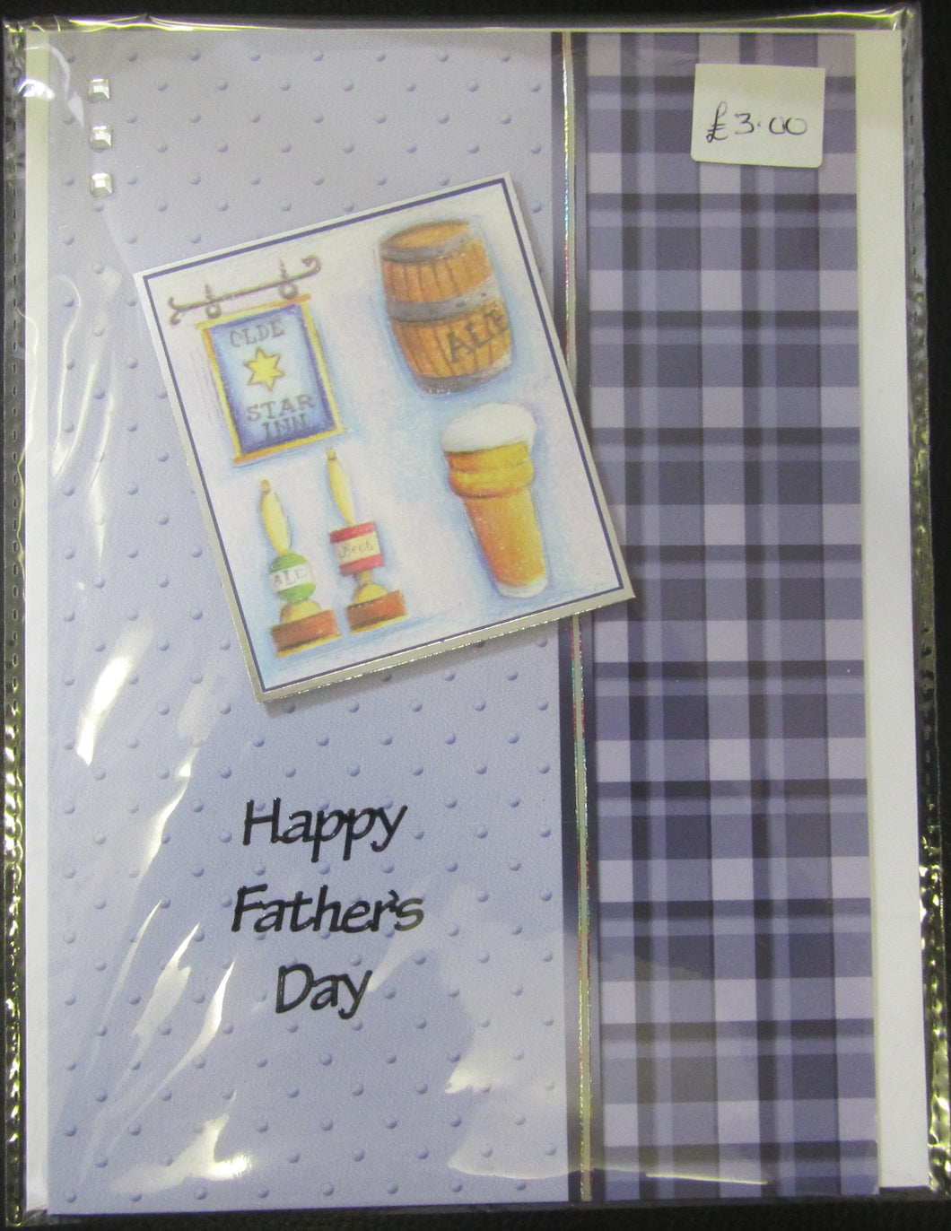 Handcrafted ale themed father's day card