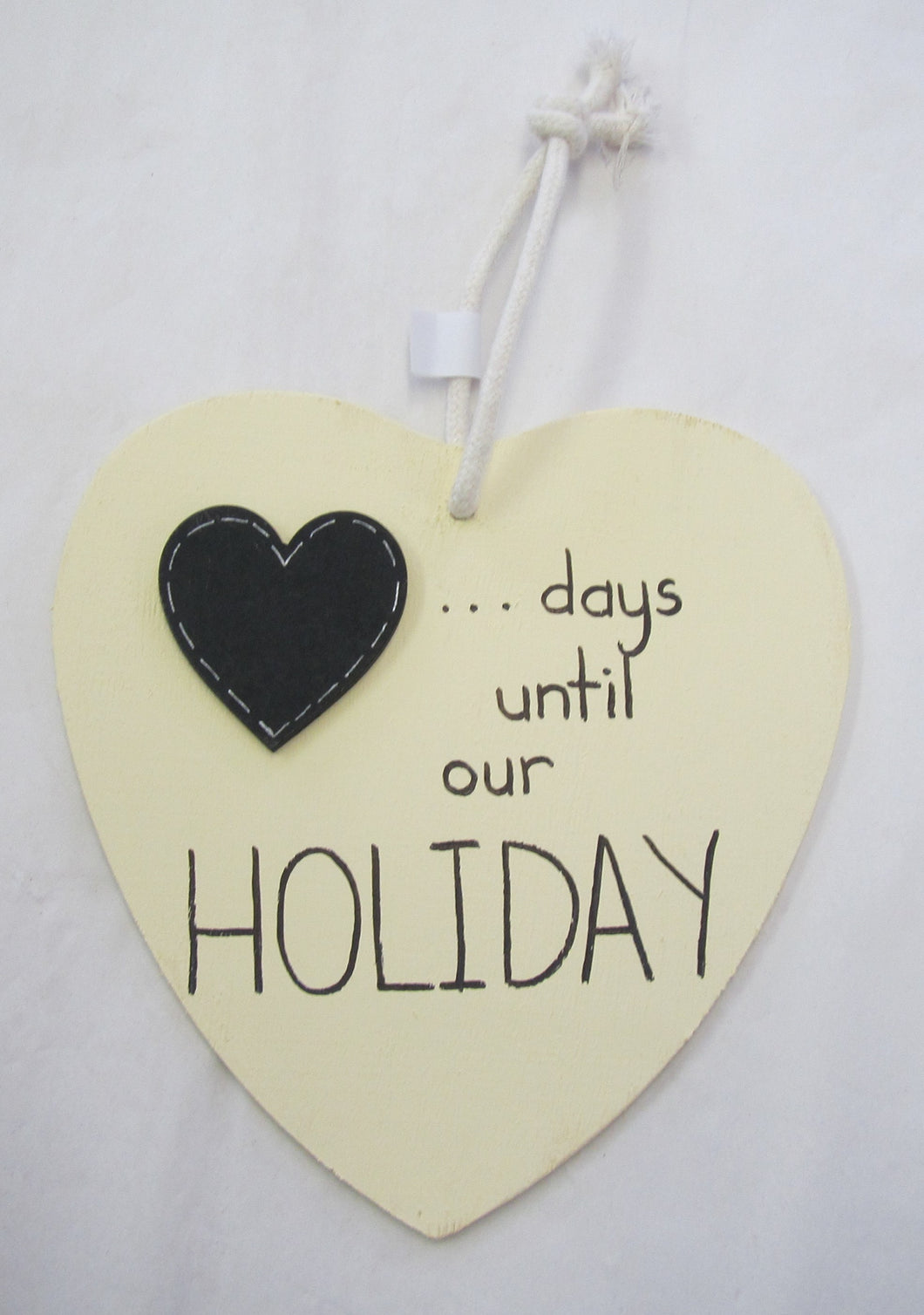 Beautiful handcrafted heart - days until our holiday