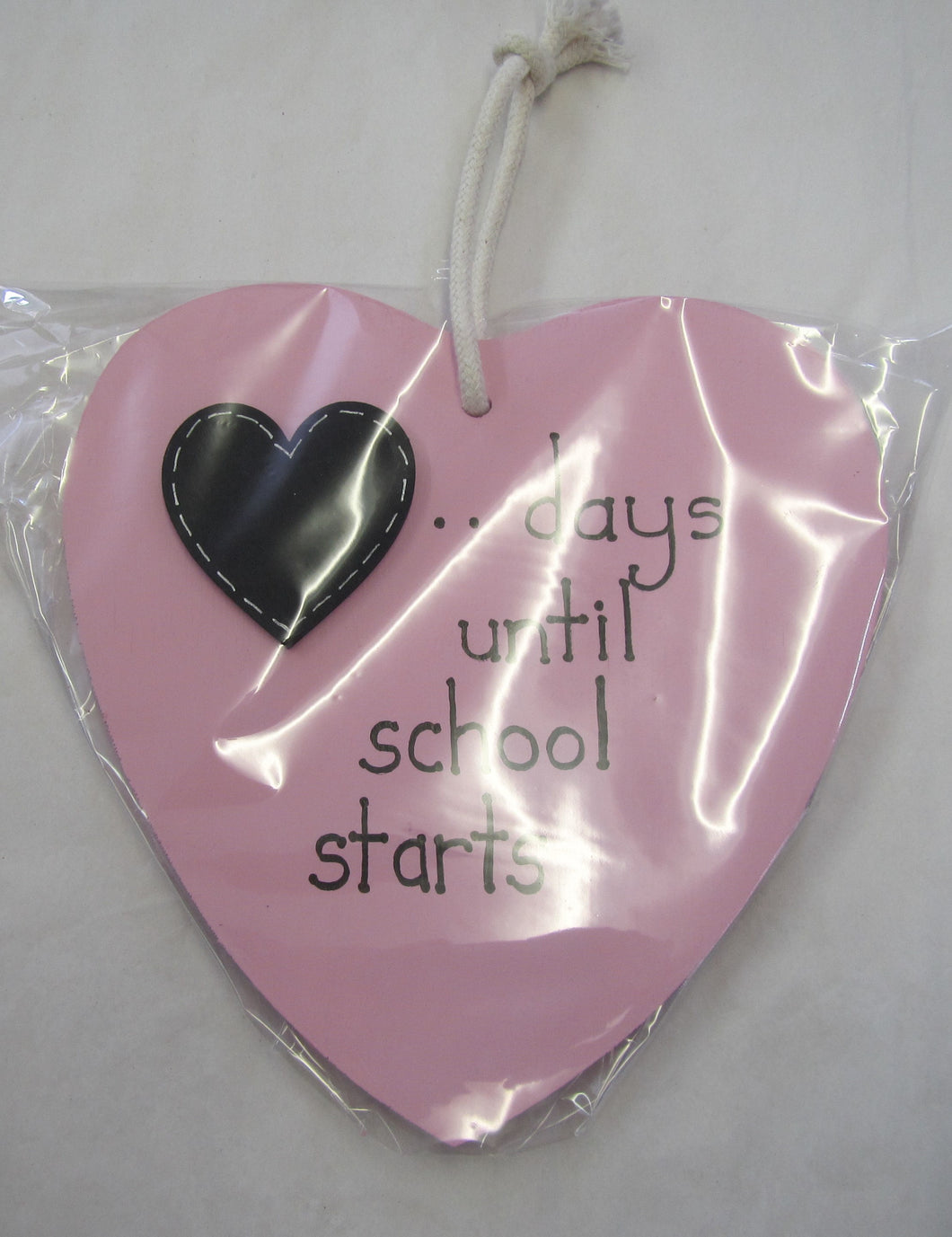 Beautiful handcrafted heart - days until school starts
