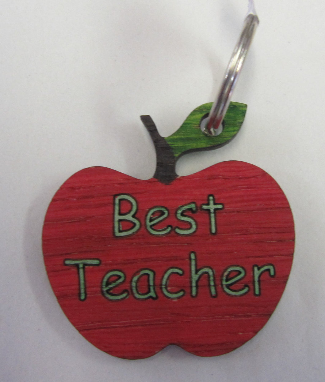 Handcrafted beautiful best teacher apple key ring