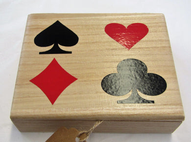 Beautiful hand crafted wooden playing card boxes complete with cards