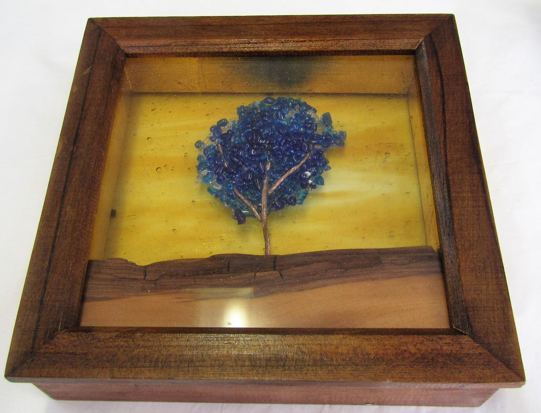 Beautiful handcrafted fused glass tree picture