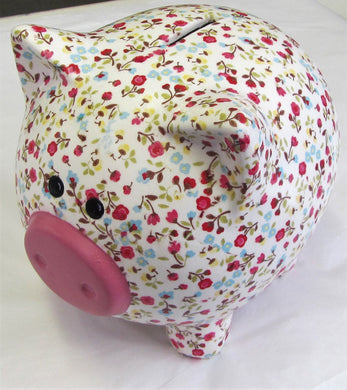 Beautiful various decoupage Large ceramic pig money boxes