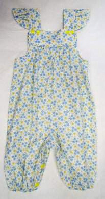 Handcrafted Blue and yellow daisy romper suit 6-9 months