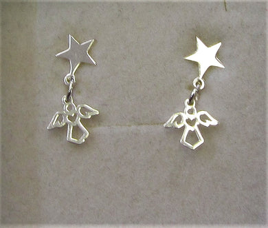 Handcrafted angel and star 925 sterling silver
