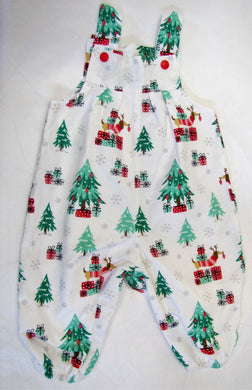 Handcrafted Christmas tree romper suit fully lined 3-6 months